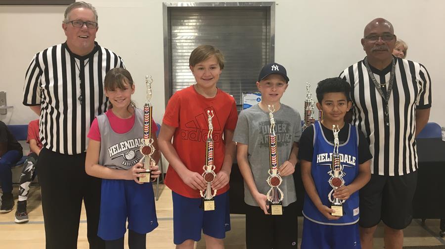 Helendale Hoop Shoot Division 10-11 Winners