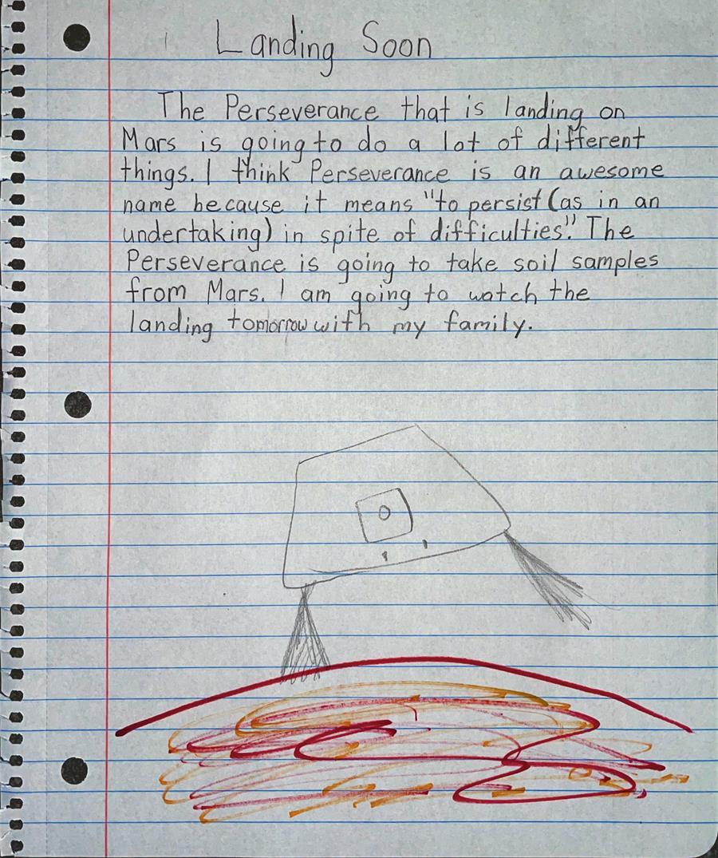 Mars Perseverance Rover Landing by Ella Powell